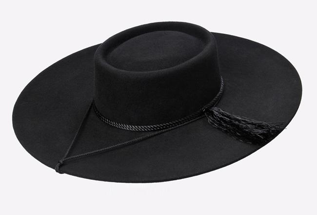 87ad4c7e8dbdb Sombrero De Paño Negro Para Varón