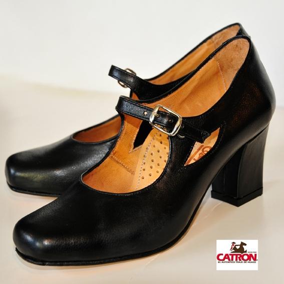 Zapato De China Negro Calzados Catron El Aut 233 Ntico Traje De Huaso Despacho A